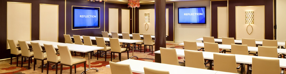 Common cruise concerns include no meeting space. Conference Center on Celebrity Reflection