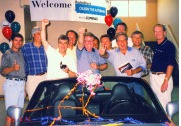 Car giveaway during franchisee incentive cruise