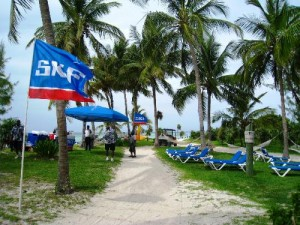 SKF private beach event at CocoCay, Bahamas
