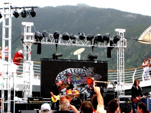 Poolside concert during Rock Legends Cruise on Liberty of the Seas