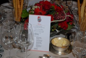 Customized dining room menu for group cruise event
