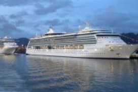 Simultaneous ship charters used as floating hotels for conference