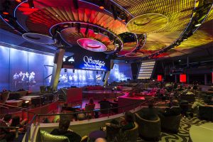 Cruise vs. hotel: Two70 transformative entertainment space on Royal Caribbean Quantum-class
