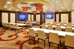 Cruise inclusions include complimentary meeting space. Celebrity Reflection Conference Center