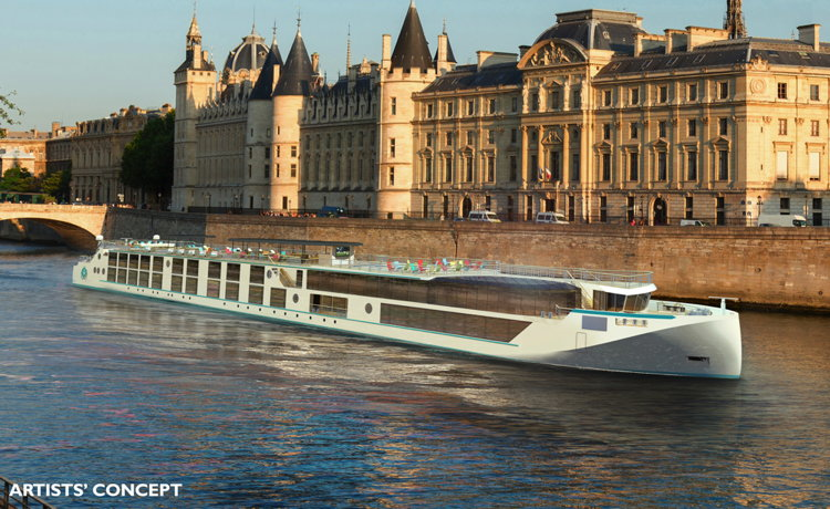 Luxury River Cruises - Crystal River Yacht rendering