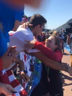 2016 Rio Olympics - Rowing winner with family