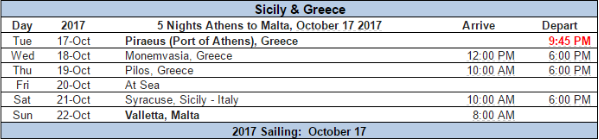 Unique Mediterranean cruise itinerary for Star Flyer