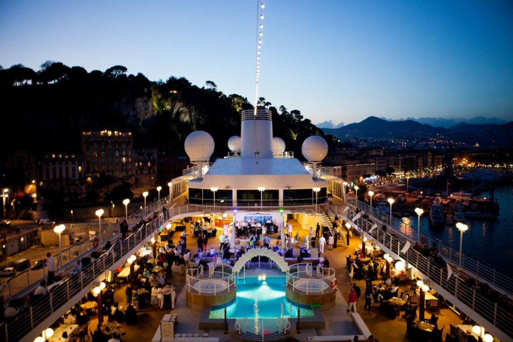 Azamara Club Cruises deck party-solution to Meeting planner challenge to find unique venue