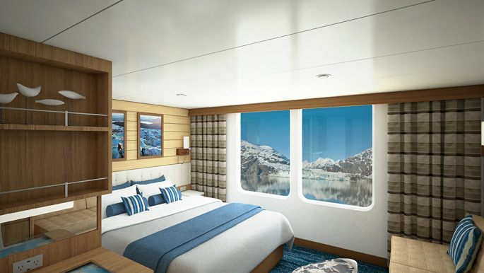 New expedition ship - National Geographic Quest oceanview cabin