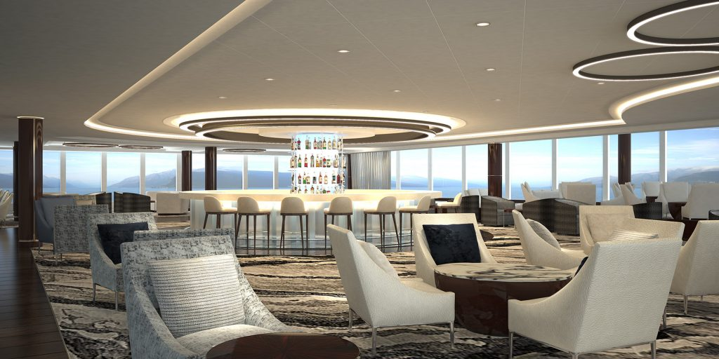 Drive-to meetings: Norwegian Bliss Observation Lounge