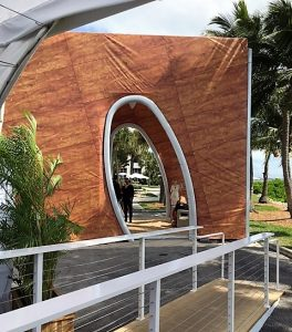 Celebrity Edge full-scale mockup of Resort Deck Cabana