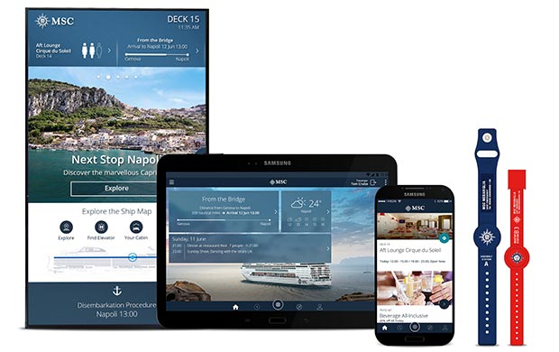 """Wearable technology at sea - MSC Cruises """"MSC for Me"""" devices"""