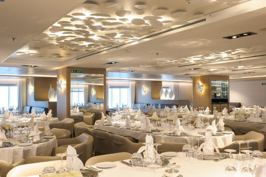 Le Soleal restaurant - 264-guest yacht available for private charter