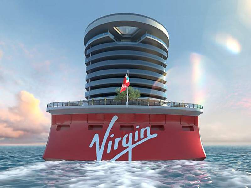 Virgin Voyages Aft of Ship