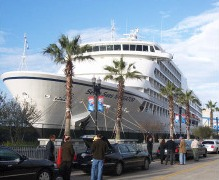 Dockside cruise ship charter for global event