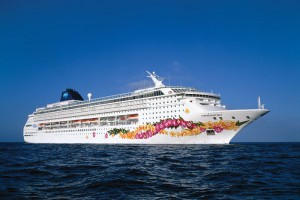 Norwegian Cruise Line ship at sea