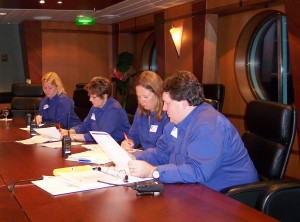 Landry & Kling staff work behind the scenes during cruise program