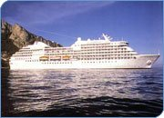 Types and sizes of ships: large cruise ship used for meetings and group cruise events