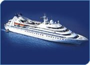 Mid-size cruise ship for group cruise events, incentive cruises