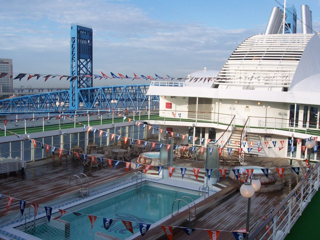 Dockside cruise ship charters - ship used as floating hotel for Super Bowl 2005