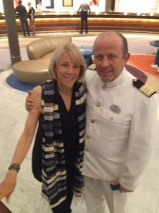 Jo Kling with Crystal Symphony Hotel Director