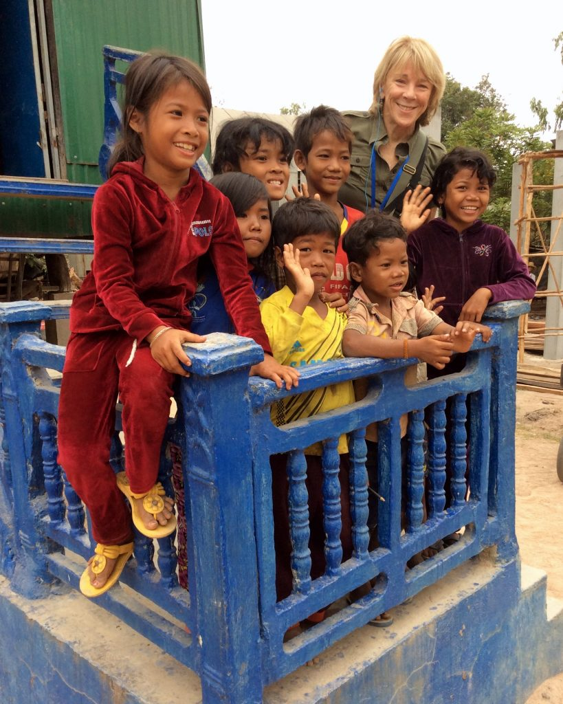 These Cambodian kids were so cute - and happy to meet some Westerners!