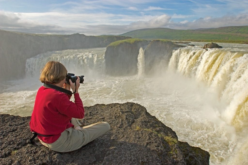 Incentive Cruise to Iceland PHOTOGRAPHING GODAFOSS (WATERFALL OF THE GODS) - RIVER SKTALFANDAFLJOT: NORTH-EAST ICELAND