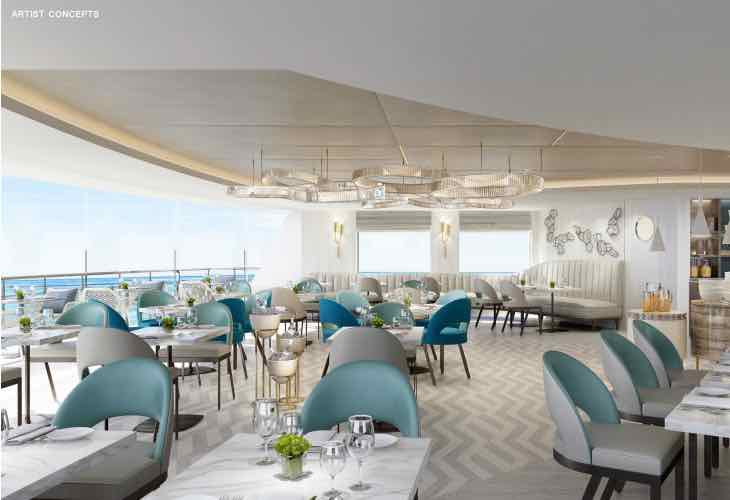 Crystal Yacht Cruises Esprit indoor/outdoor dining