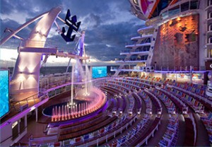 Harmony of the Seas AquaTheater - reasons to meet on a cruise ship