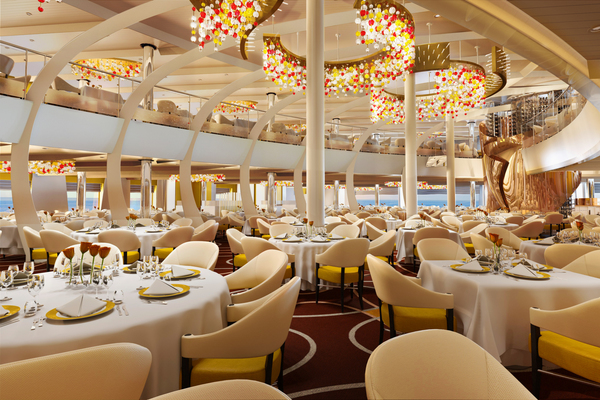 Koningsdam dining room - reasons to meet on a cruise ship
