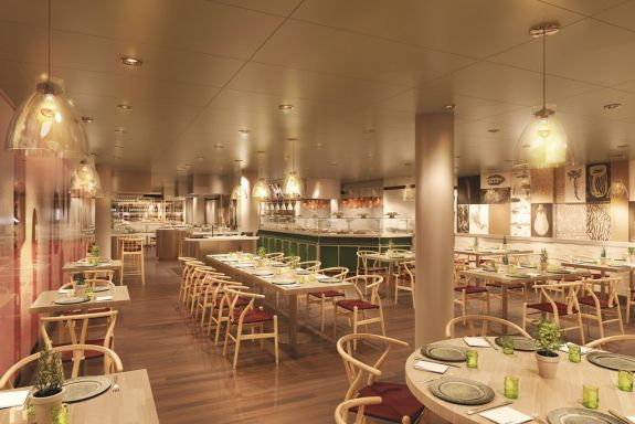 Holland America Koningsdam Culinary Arts Center (rendering)