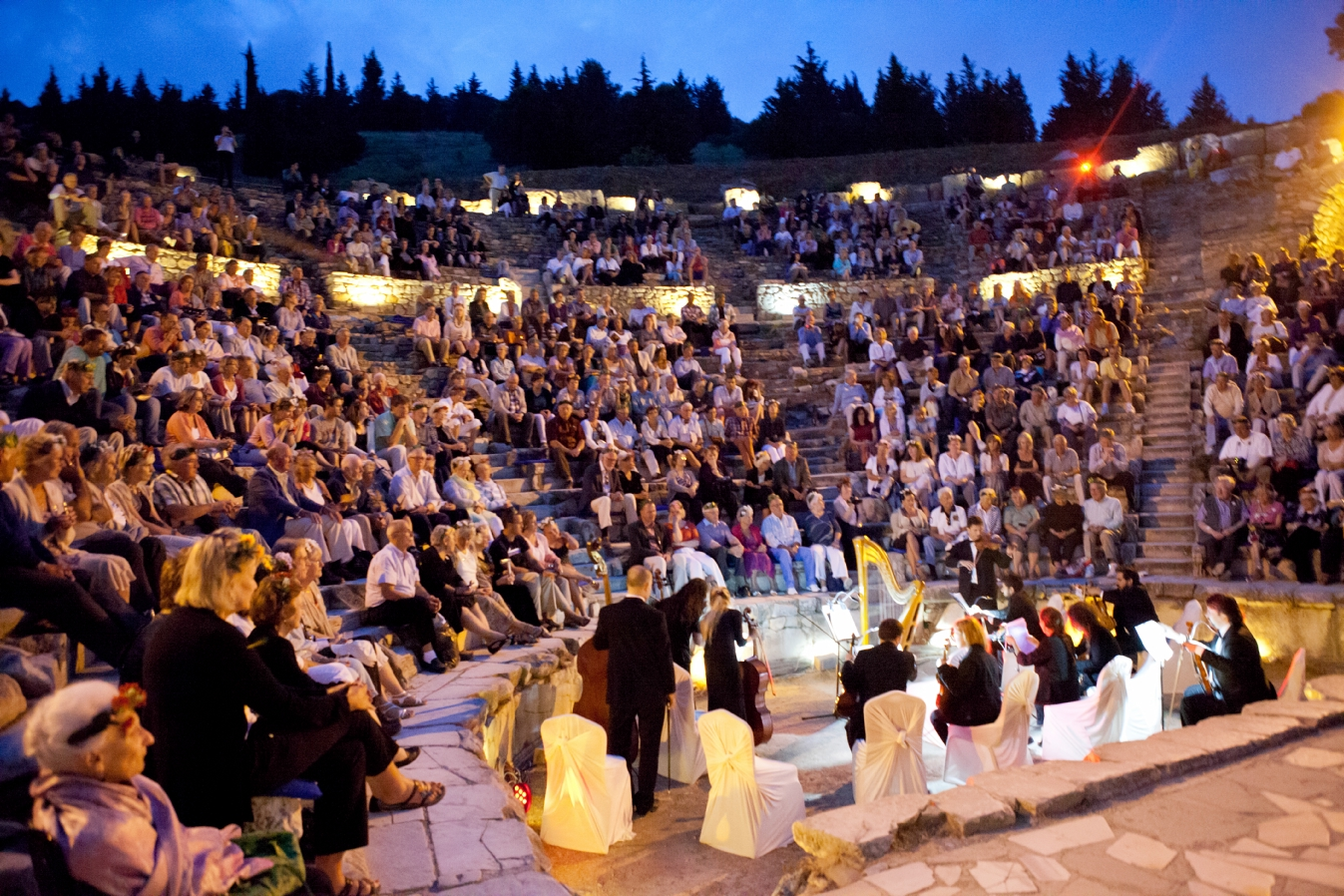 Complimentary private concert during at Ephesus during Azamara Club Cruises incentive cruise