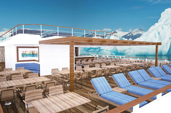 Lindblad's new National Geographic Quest deck, sailing in Alaska