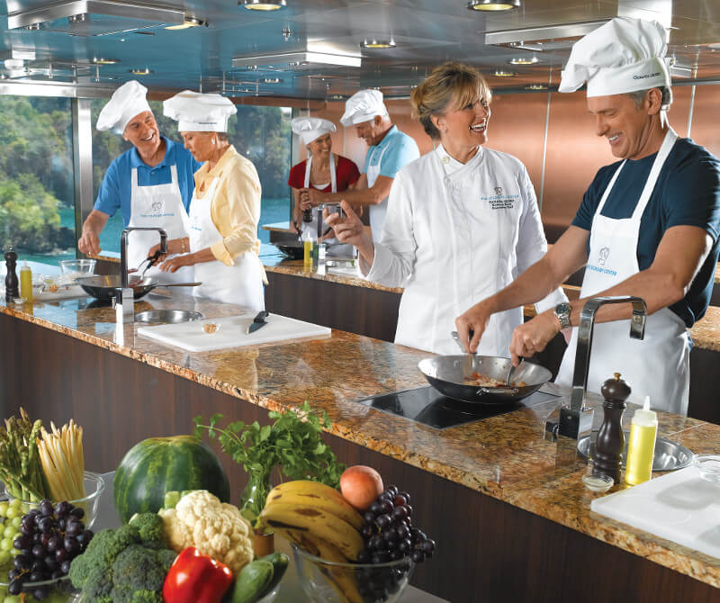 Oceania Culinary Arts Center - best cruise ship dining experience