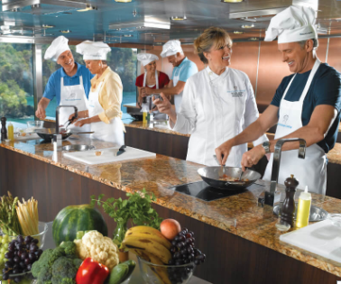 Culinary Center on Oceania ship