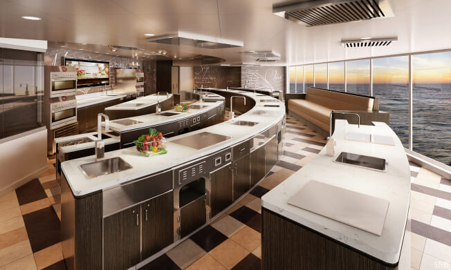 Regent Seven Seas Explorer Culinary Kitchen