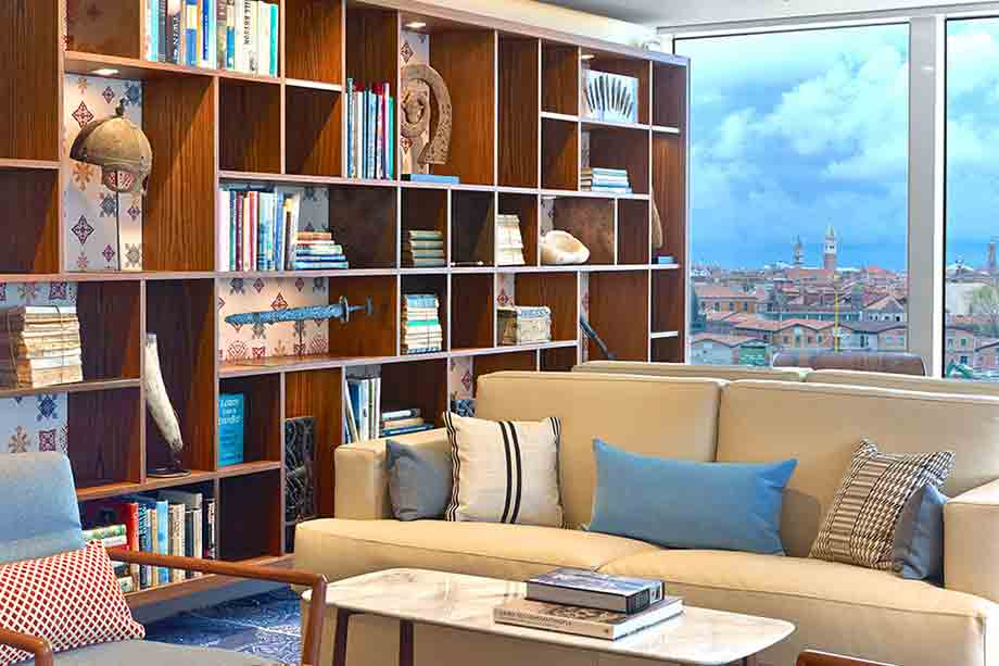 Suite Living Room on Viking Sun, sailing in Cuba