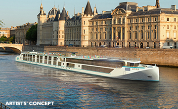 Luxury river cruises - Crystal River Debussy river yacht