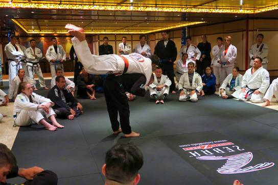 Grappler's Escape cruise on Carnival Dream included master instructors.