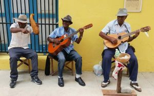 Cuba Street Musicians during Fathom cruise to Cuba