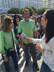 Maria Isabelle get interviewed by reporter