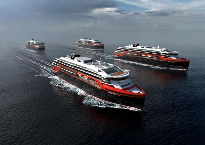 Hurtigruten sustainable cruise ships are first hybrid electric-powered ships.