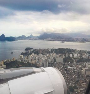 Joyce Landry arriving Rio for Rio Olympics Ship charter