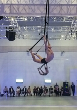 Celebrity Cruises Entertainment - Aerialist practicing at RCI Production Studio