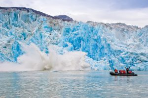 Motivate Millennials - glacier calving during Lindblad Expeditions Cruise