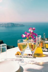 Best cruise line food experiences - Oceania gourmet tour to Santorini