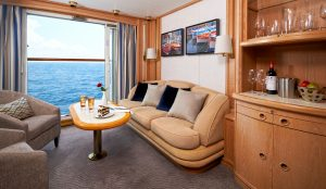 Windstar yacht balcony suite