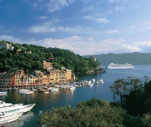 cruise ship security - Crystal ship in Portofino