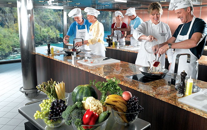 cruise-based meetings- Culinary Center on Oceania ship