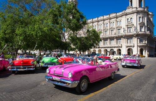 Incentive Cruises to Cuba-Havana cars